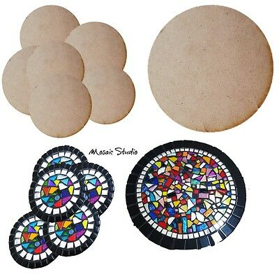 6x Round Coasters Bases  and 1x Trivet