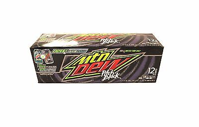 Pitch Black Mountain DEW MD Grape Soda RARE Limited 2016  ~ 12 Pack Box Case
