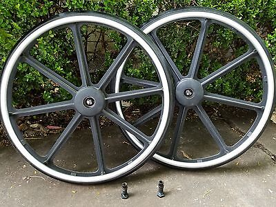 """Breezy Wheelchair Rear Wheel Set With Quick Release and Mounts 24"""" x 1"""""""