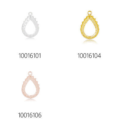 20 Teardrop Crown Edge Bezel Cups Open Back Bezel,Bezel pendant 10x14mm