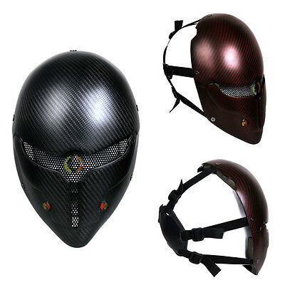 Airsoft Paintball Tactical Full Face Protection Mask CS Army War BB Game