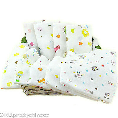 100% Cotton Baby Gauze Muslin Squares Washcloth Wipes Soft Bibs Towel 30 x 30cm