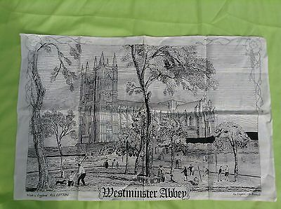 An English Life Made In England All Cotton Scarf Westminster Abbey Scene Black A