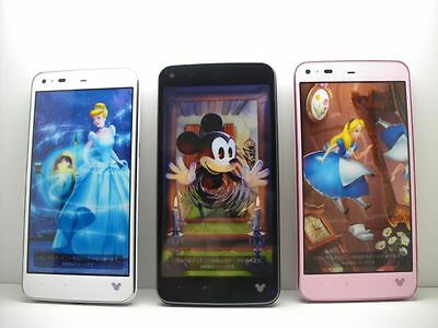 Disney Mobile on Docomo SH-05F 3 color set Non-working Display Phone Japan