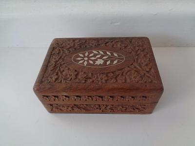 Oriental Carved Wooden Box