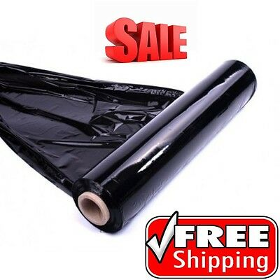6 rolls x QUALITY BLACK PALLET STRETCH WRAP 400mm 250m* CHEAPEST *