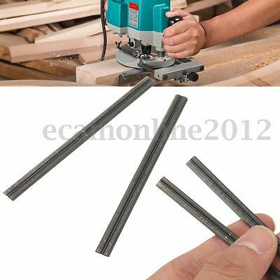 2Pcs 82mm Reversible Steel Planer Blades For Electric Power Tool Carpentry