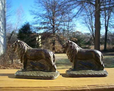 Antique Cast Iron ACW Co. Lion Bookends 301
