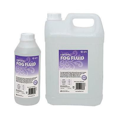 QTX 160.593 Low Level Dry Ice Effect Disco Club Fog Machine Fluid 5l Bottle New