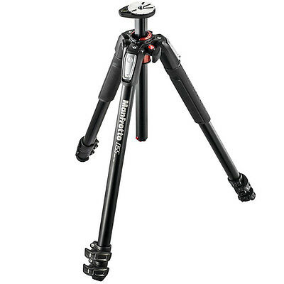 Manfrotto MT055XPRO3 055 Aluminium 3-Section Tripod with Horizontal Column-Blac