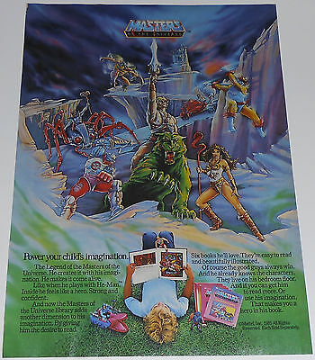 1985 vintage ad - MASTERS OF THE UNIVERSE MATTEL BOOKS - 1-PAGE PRINT AD - HEMAN