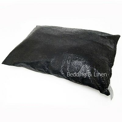 Faux Skin Snake Effect Large Black Dog Pet Bed Zipped Cover + Optional Pillow