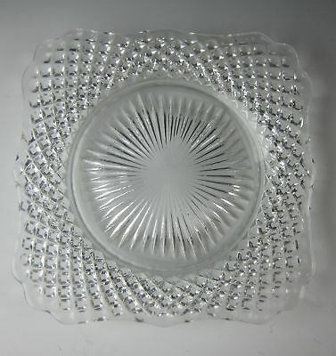 Westmoreland ENGLISH HOBNAIL-CLEAR Square Bread & Butter Plate(s) EXCELLENT