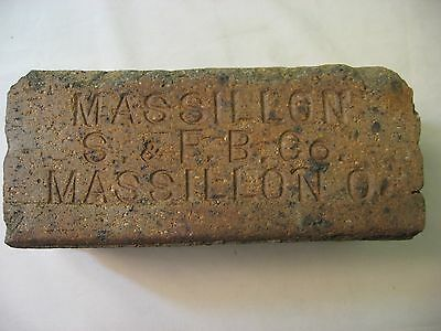 Antique Brick Massillon S. & F. B. Co.  Massillon O.