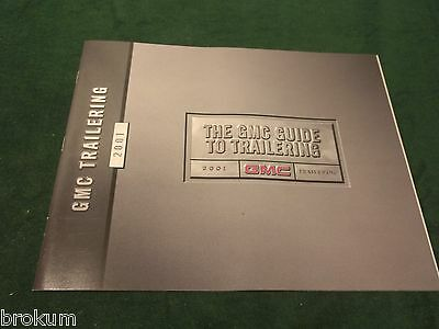 Mint 2001 Gmc Trailering Guide Sales Brochure Jimmy Savana Safari  (Box 780)