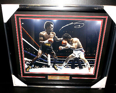 Sugar Ray Leonard Signed Autographed Framed 16X20 Photo Jsa Coa