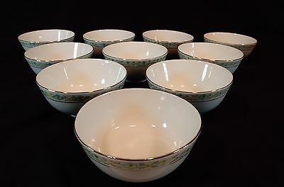 Set of (10) hand painted Chinese Swatow China Rice Bowls 4 1/2 inches