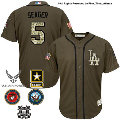 NEW Corey Seager Los Angeles Dodgers Mens Salute to Service Military Camo  Jersey d433e44fbfe