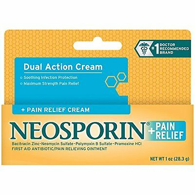 4 Pack - Neosporin + Pain Relief Cream Maximum Strength 1oz Each