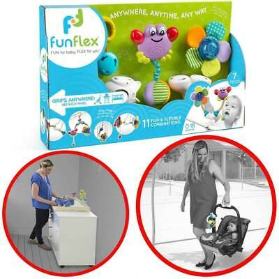 Fun Flex Interactive Musical Mobile Rattle Infant/Baby Toy for Pram/Cot/Crib/Car
