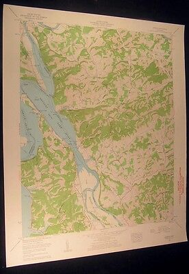 Rankin Tennessee Holttown Liberty Hill 1963 vintage USGS original Topo chart map