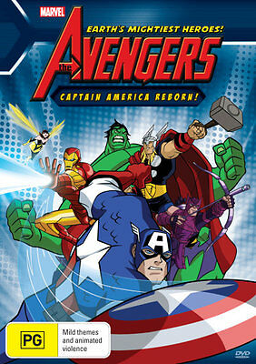The Avengers Captain America Reborn! (Marvel) NEW DVD * Earth's Mightiest Heroes