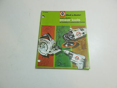 Vintage 1971 Black And Decker B&d Power Tools For Industry Construction Catalog