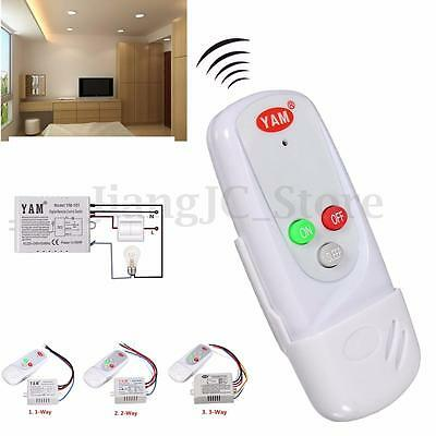 Wireless 1/2/3-Way LED Light Lamp Digital Wall Switch Remote Control Controller