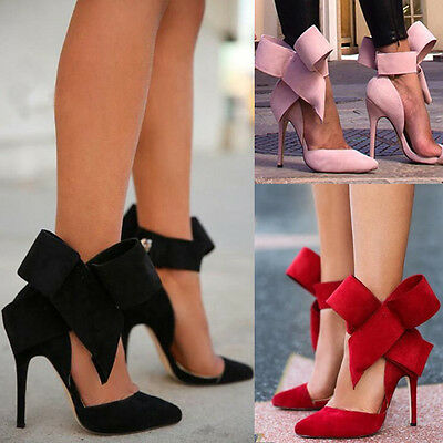 Fashion Women High Heels Stilettos Pointed Toe Ankle Strap Wedding Court Shoes