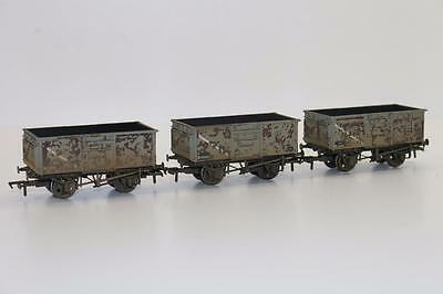 Bachmann OO Set Of 3 Mineral Wagons BR Grey Weathered 37-235A  BNIB FNQHobbys