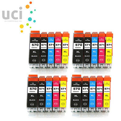 20 Ink Cartridge Replace For Canon Pixma MG6851 MG6852 MG6853 MG7750 MG7751