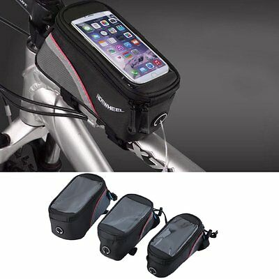 Cycling Bike Front Top Frame Pannier Tube Bag Case Pouch for Cell Phone BG