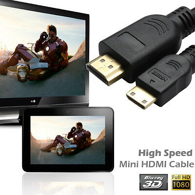 AU 1M 2M 3M 5M HDMI to Mini HDMI Cable 1080p for Video Camera Ultrabooks