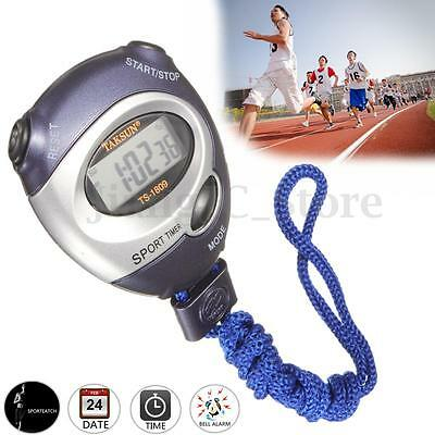 Handheld Digital LCD Sports Stopwatch Stop Watch Time Clock Alarm Counter Timer