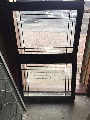 Sg 645 Two Available Price Separate Four Corner Belval Leaded Glass Windows