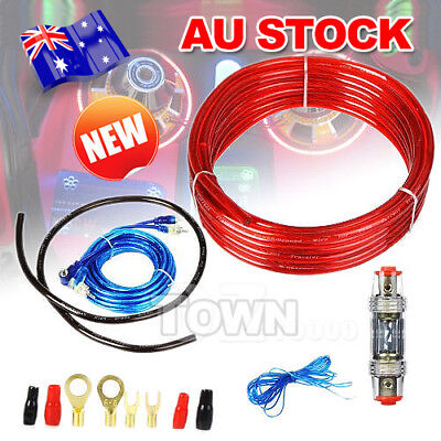 1500W Complete 8 GAUGE Car Amp Vibe Amplifier Cable Subwoofer Wiring Kit