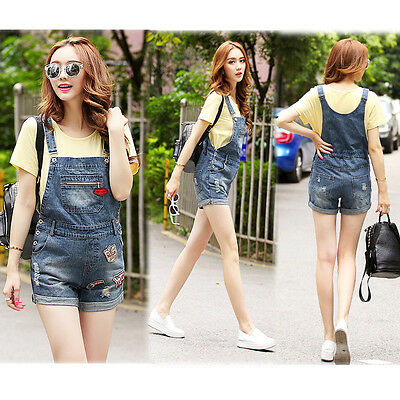 New Dungarees Overalls Jeans Shorts Pants Denim Cute Trendy 8 10 12 14 16 7030