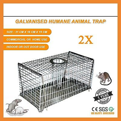 2 X Safe Self Catching Humane Mouse Mice Rat Rodent Vermin Live Trap Traps Bait