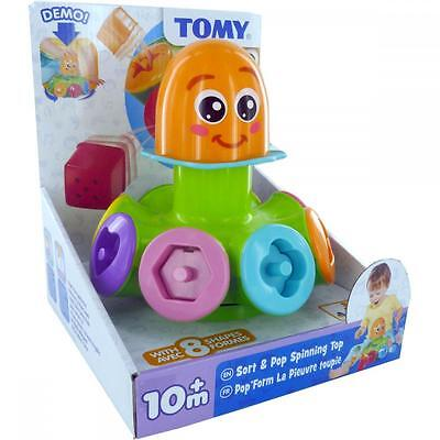 Tomy 72423 Childrens 10+Month Baby Sort and Pop Spinning Top Play Toy Black New