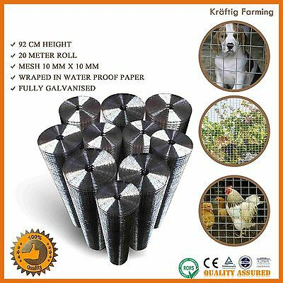 Welded Wire Mesh Animal Fence Graden Pet Coop Aviary Poultry Electro20M Roll