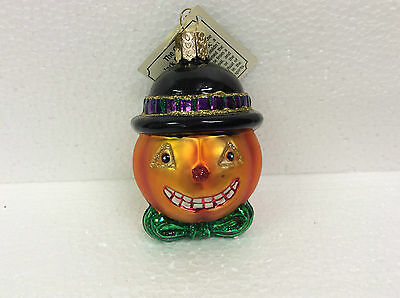Old World Ornament Glass Jack O' Lantern Pumpkin Halloween New
