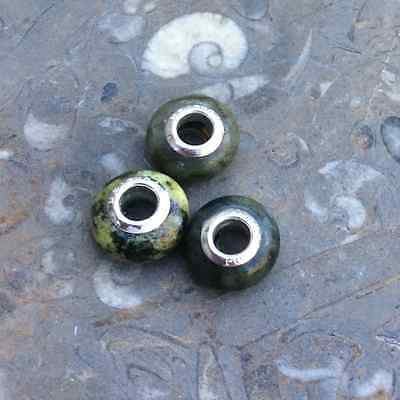 Connemara marble single European style bead. Irish Jewelry making craft supplies