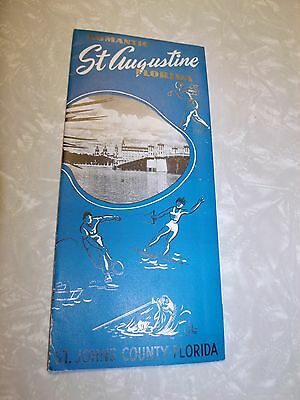 1930s-40s Romantic St. Augustine Florida St Johns County Brochure Golf Sports
