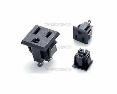 2Pcs Ss-6B 15A/125V 3Pin American Ac Power Socket /Outlet /Jack Develope New D N