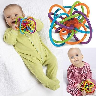 Baby Rattle Sensory Teether Activity Toy Soft BPA-Free Plastic Play Teeth Soothe