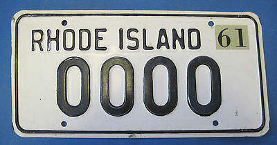 1961 Rhode Island sample license plate