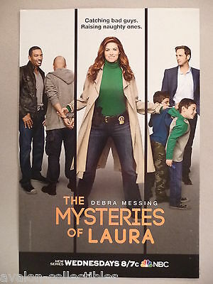 """""""The Mysteries of Laura"""" TV Show PRINT AD - 2014 ~~ Debra Messing"""