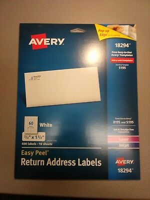 avery easy peel clear return address labels for laser printers 0 5