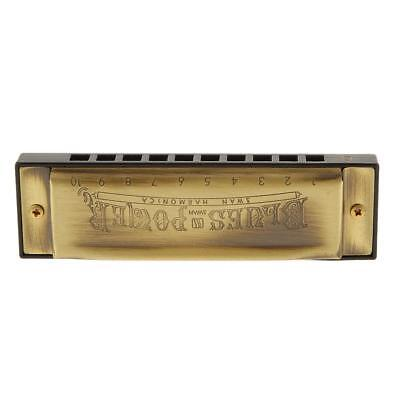 10 hole Diatonic Harmonica in C keys Blues Harp Mouth Organ Music lover Gift