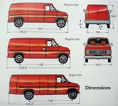 1983 FORD ECONOLINE Van Brochure with Color Chart: E-100,150,250,350,E100,E150,